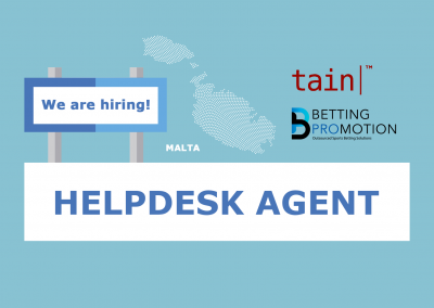 We are hiring: Helpdesk Agent