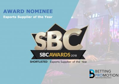 Shortlisted: Esports Supplier of the Year