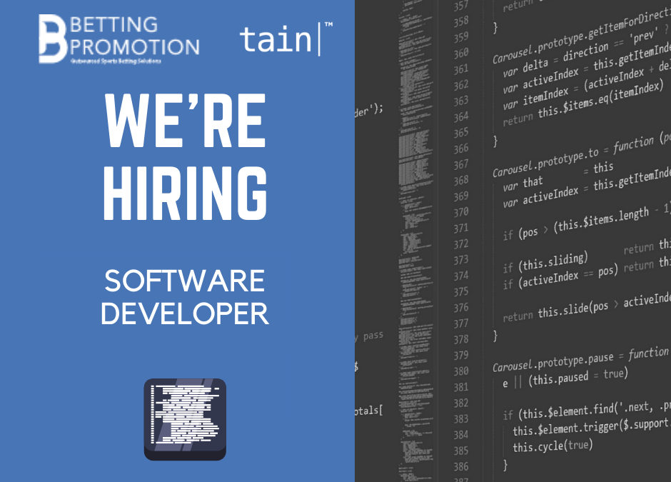We are hiring: Software Developer